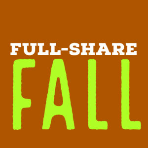 Full-share | 10 weeks | Sept. 18 – Nov. 20, 2019