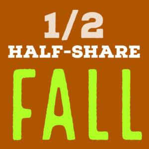 Half-share | 7 weeks | Oct. 9 – Nov. 20, 2019